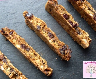 Cranberry, Hazelnut & Dark Chocolate Vegan Biscotti