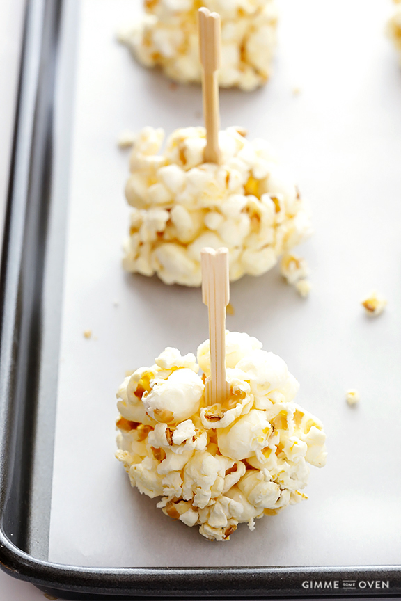 Naturally-Sweetened Honey Popcorn Balls
