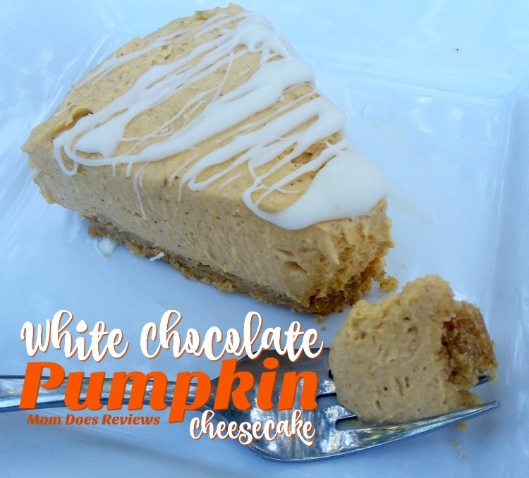 #12Daysof Thanksgiving #Recipes {Day 8}: White Chocolate Pumpkin Cheesecake