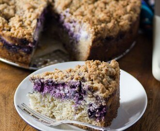 Blueberry Coffee Cream Cheese Cake
