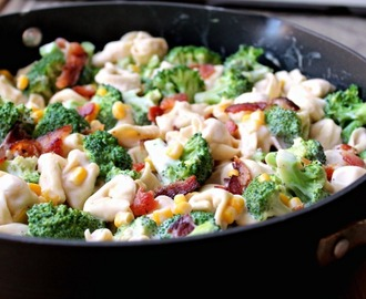 Broccoli & Bacon Tortellini Alfredo