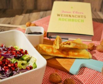 Happy New Year – Camembert Stangen mit Wintersalat & Cranberrydip von Jamie Oliver [Rezension]