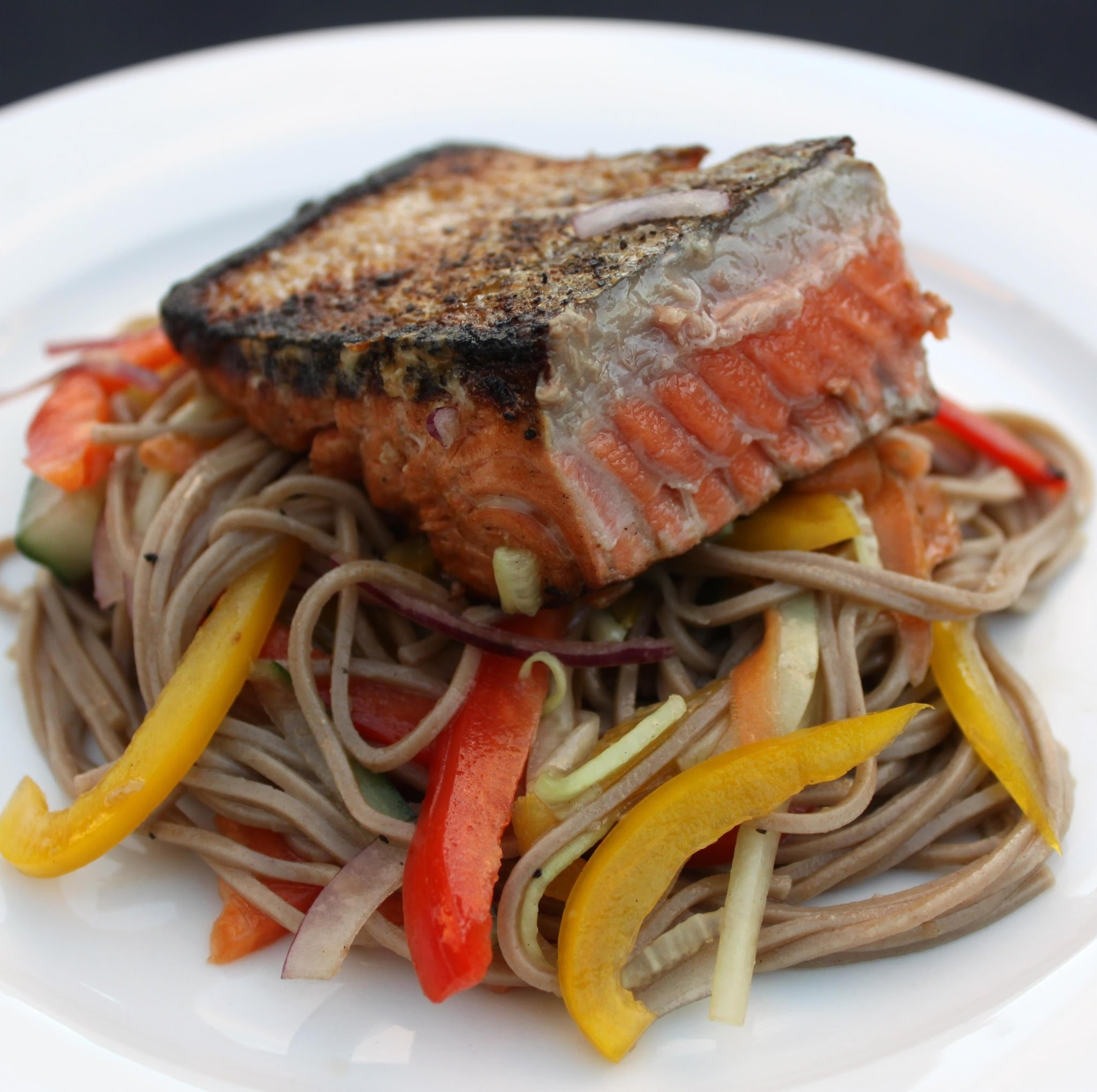 Teriyaki Salmon and Soba Salad