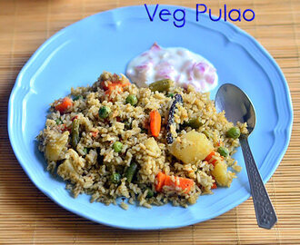 Vegetable Pulao Recipe – Karnataka Style Veg Pulao Recipe