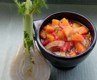 Light Fennel, Red Pepper and Butternut Stew