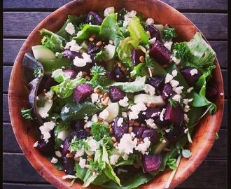 Honey & Balsamic Beetroot Salad with feta & Pine Nuts