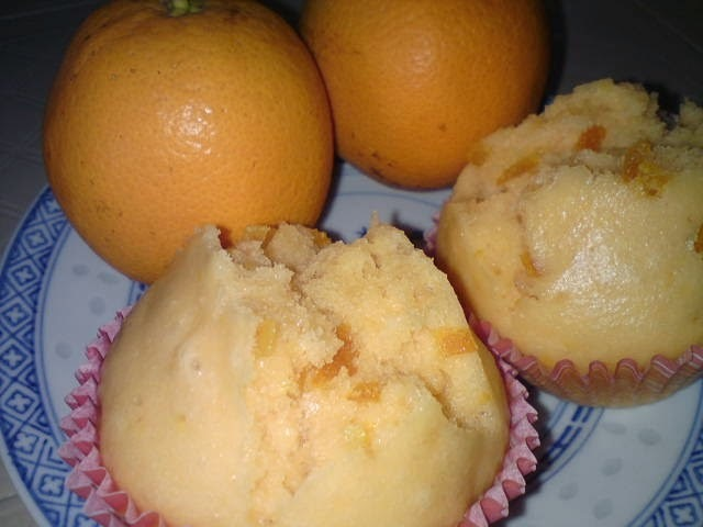 Steamed Orange Cupcakes