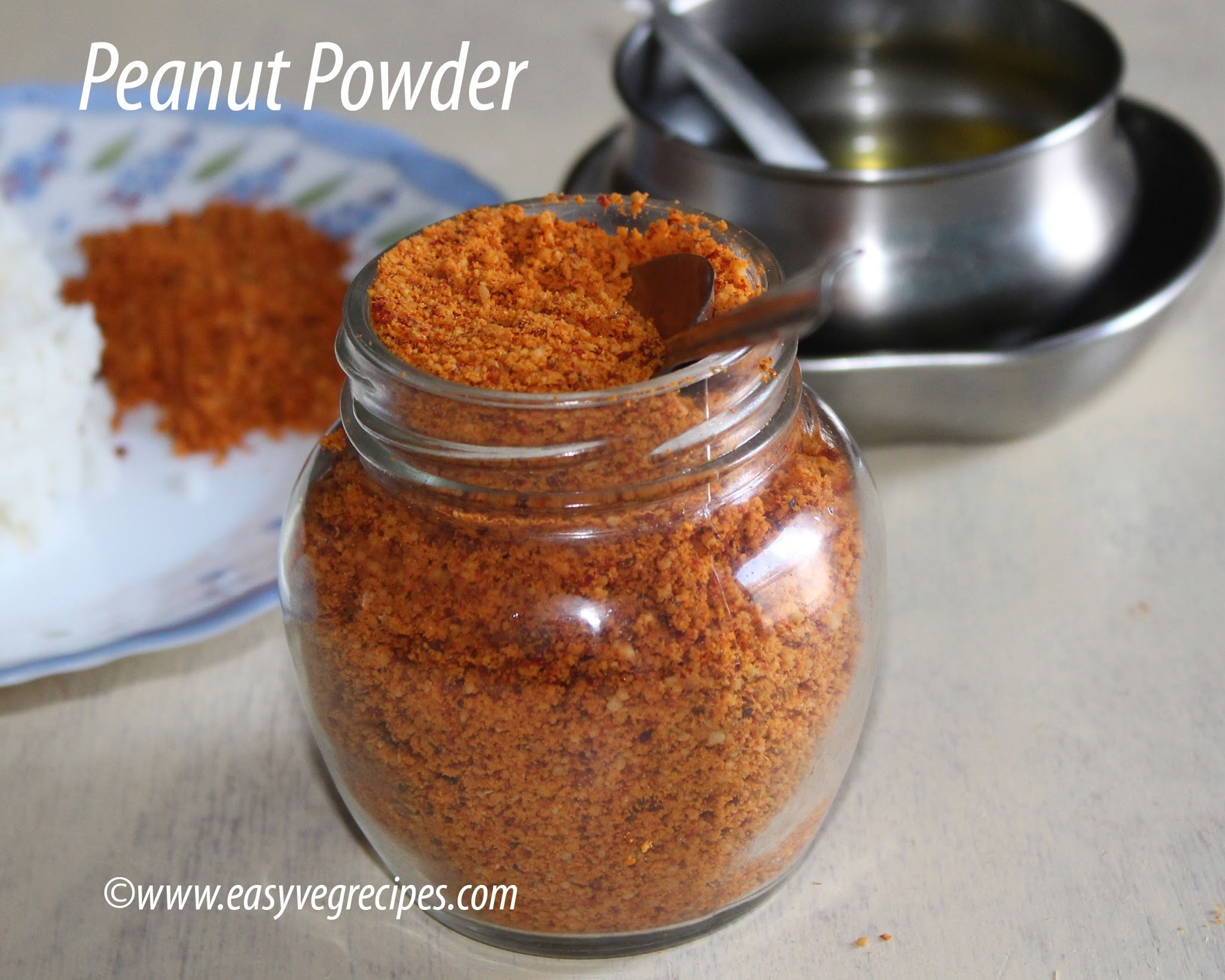 Peanut Powder Recipe -- How to make Peanut Powder for Rice