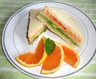 Avocado Sandwich Recipe - A Lunch Box Recipe For Kids / Healthy Lunch Box Recipes