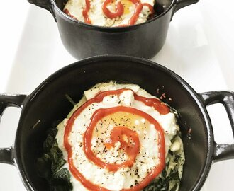 Baked Eggs & Spinach