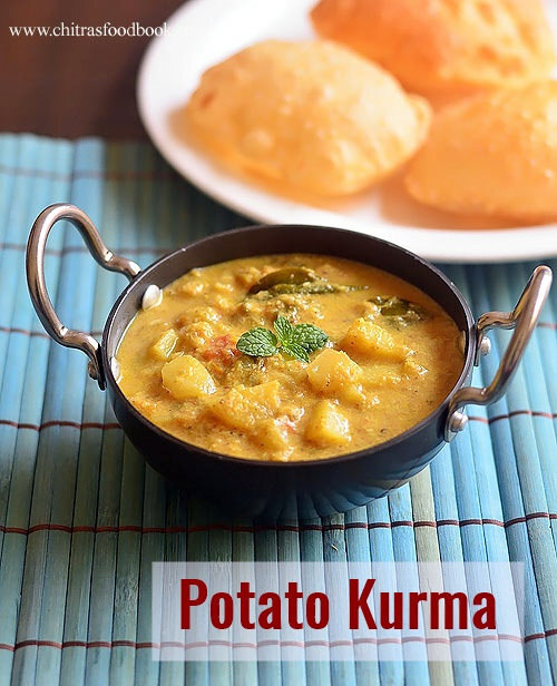 Potato Kurma Recipe – Potato Kurma For Poori, Chapathi