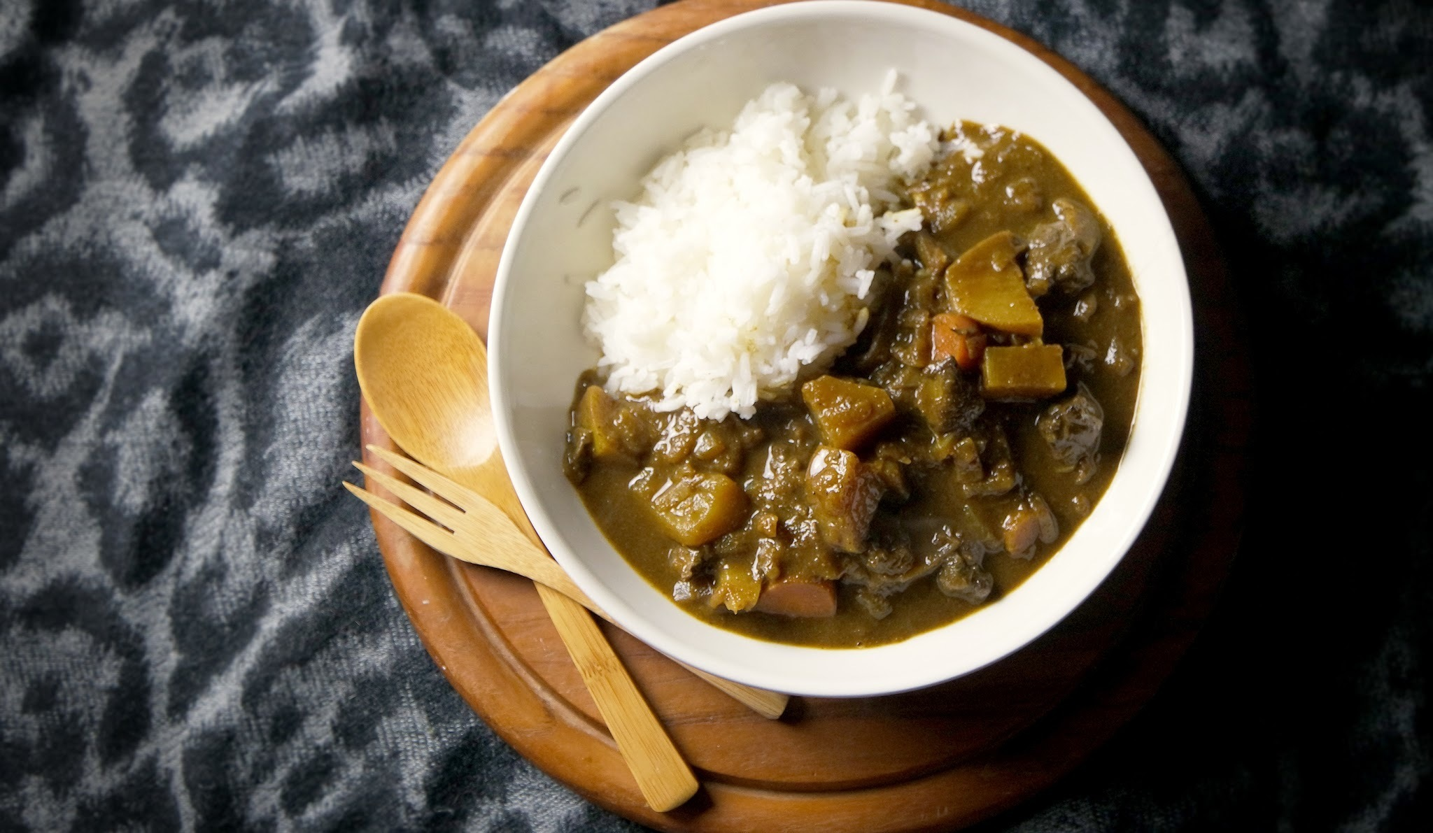 Japanse rundvlees curry
