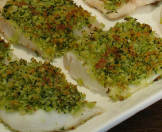 Baked Hoki with Parsley Crumb