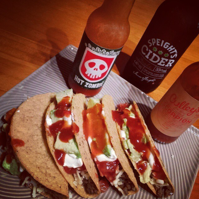 It's #TacoTime. :) Beef Tacos w/ Culley's Scorpion...
