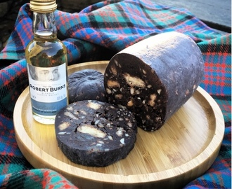 Chocolate Haggis! (aka Shortbread and Whisky Fridge Cake)