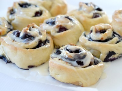 Blueberry and Cinnamon Scrolls