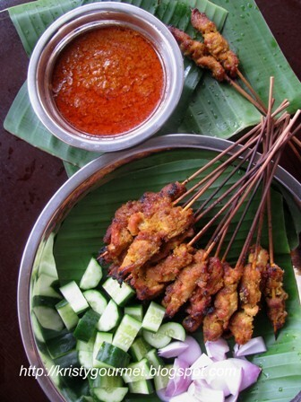 Malaysian Chicken Satay With Peanut Sauce 马来西亚鸡肉沙爹