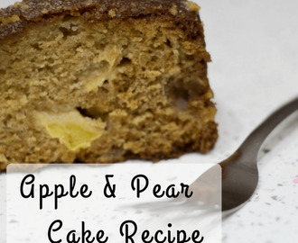 Apple and Pear Cake Recipe