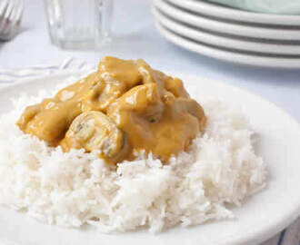 Poulet au riz avec sauce curry au thermomix