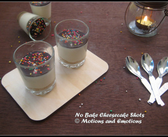 No Bake Cheesecake Shots / No Bake Cheesecake in Glass / No Bake Cheesecake with chocolate topping
