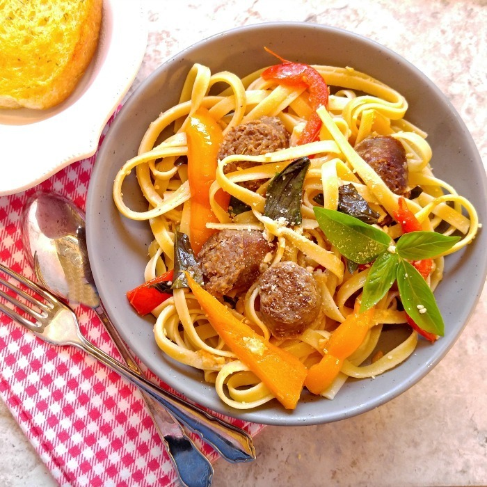 Sausage Garlic Parmesan Pasta – A Delicious 30 Minute Meal