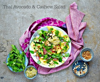 Fragrant Thai Avocado & Cashew Salad