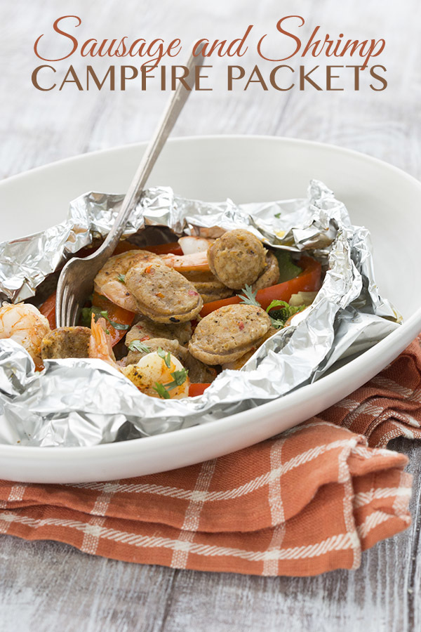 Easy Sausage and Shrimp Campfire Packets