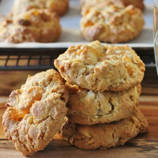 Apricot, Coconut and White Chocolate Chip Cookies | gluten free