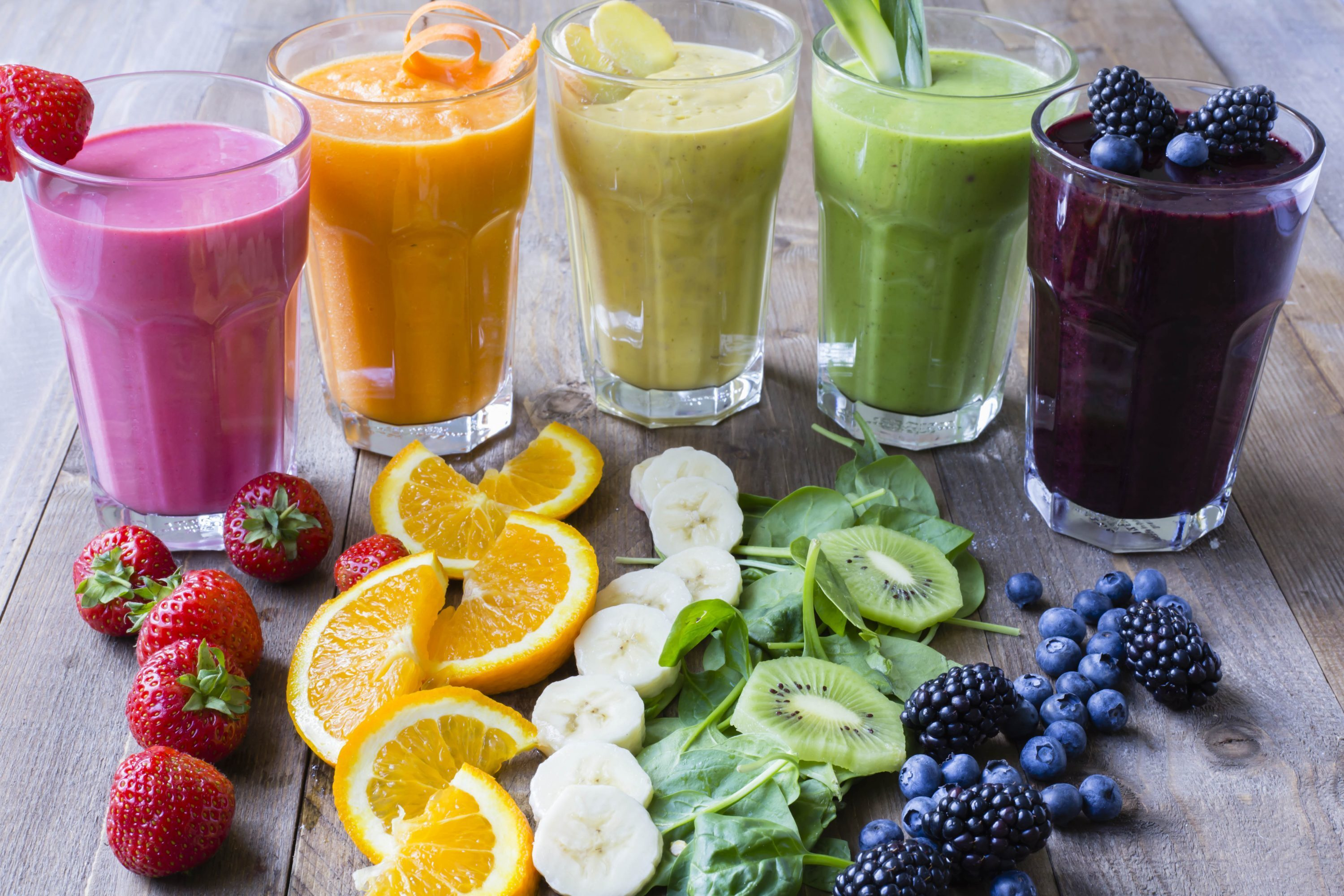 Thermomix Rainbow Smoothies