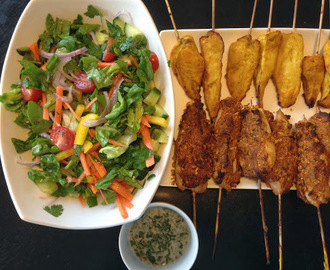 Thai Chicken Kebabs 2 Ways