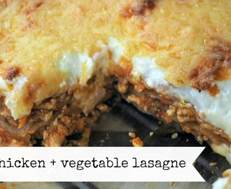 a lasagne recipe, the dishes and the dishwasher