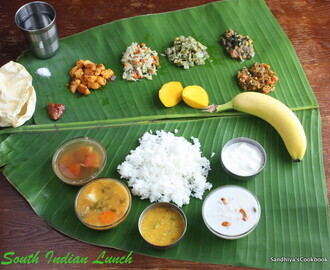 Lunch Menu - 2 | Vazha ellai Sapadu | South Indian Lunch Thali -2 | Lunch Ideas