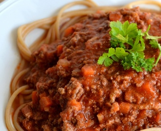 Bolognesesaus (in pan of slowcooker)