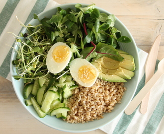 Green lunch bowl