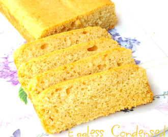 Eggless Vanilla Cake with Condensed Milk
