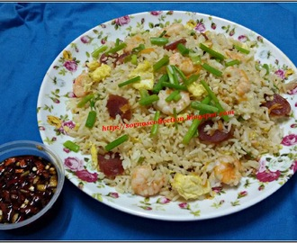 CHINESE STYLE FRIED RICE WITH SPICY SOY SAUCE