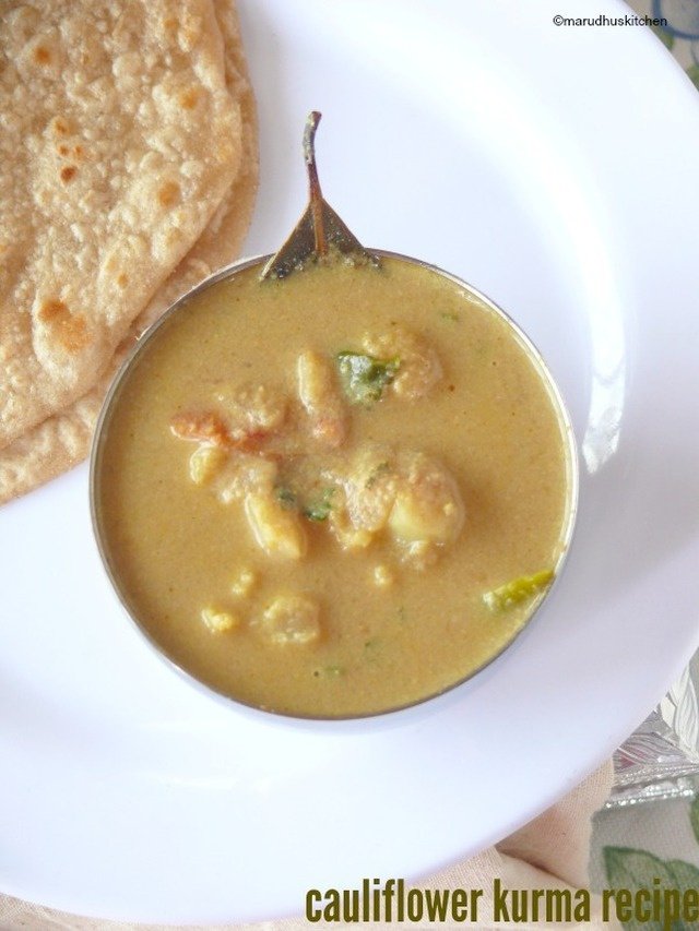 south indian cauliflower kurma  /gobi gravy for chappathi