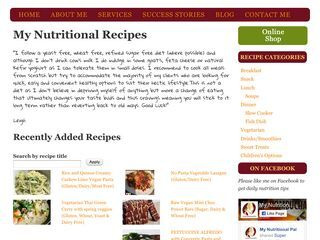 My Nutritional Recipes