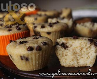 Muffins de Arroz Integral com Gotas de Chocolate
