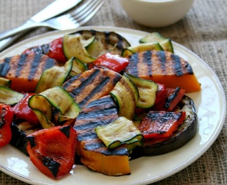 Grilled Veggies with Za'atar Yoghurt