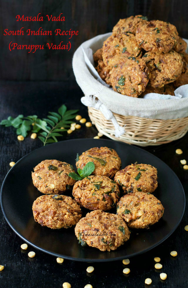 Masala Vada South Indian Recipe | Paruppu Vadai | Masal Vadai Recipe | South Indian Chana Dal Vada | Masala Vadai Recipe