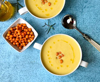chickpea soup with rosemary oil