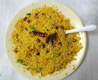 Lemon Rice Recipe | Lemon Pulihora Microwave