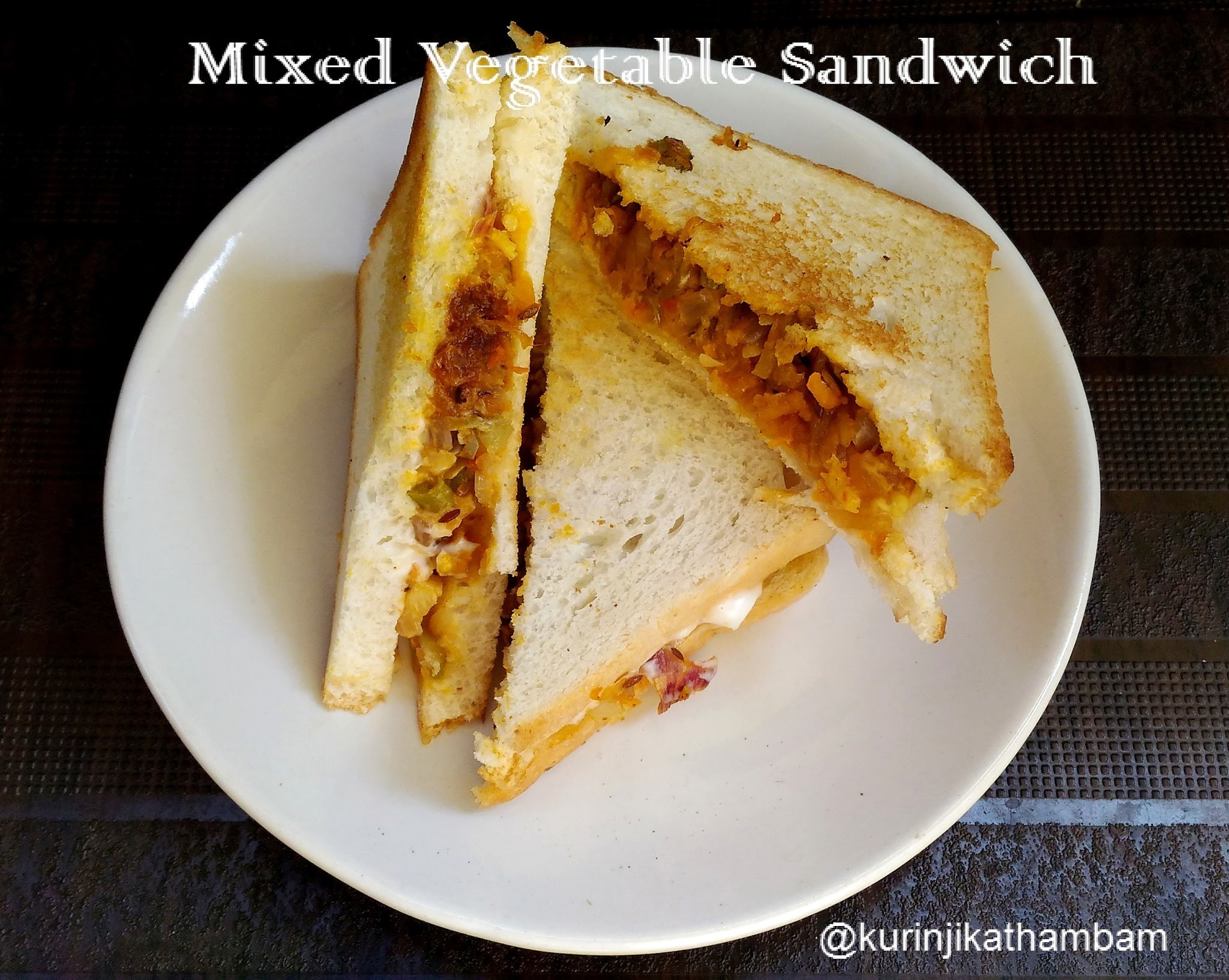 Mixed Vegetable Bread Sandwich
