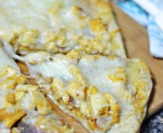 Cheesy Chicken Pizza with Wheatgerm Crust