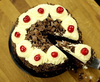 black forest cake recipe | easy eggless black forest cake recipe
