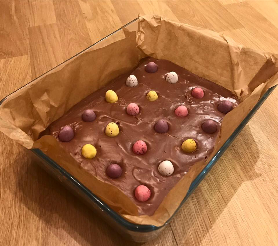 Easter: Slow Cooker Cadbury Creme Egg Fudge