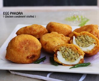 EGG SNACKS - CHICKEN CONDIMENT STUFFED EGG BAJJI