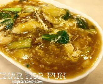 Char Hor Fun | Rice Noodles in Soupy Egg Gravy