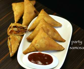 cocktail samosa recipe | party samosa recipe with samosa sheets